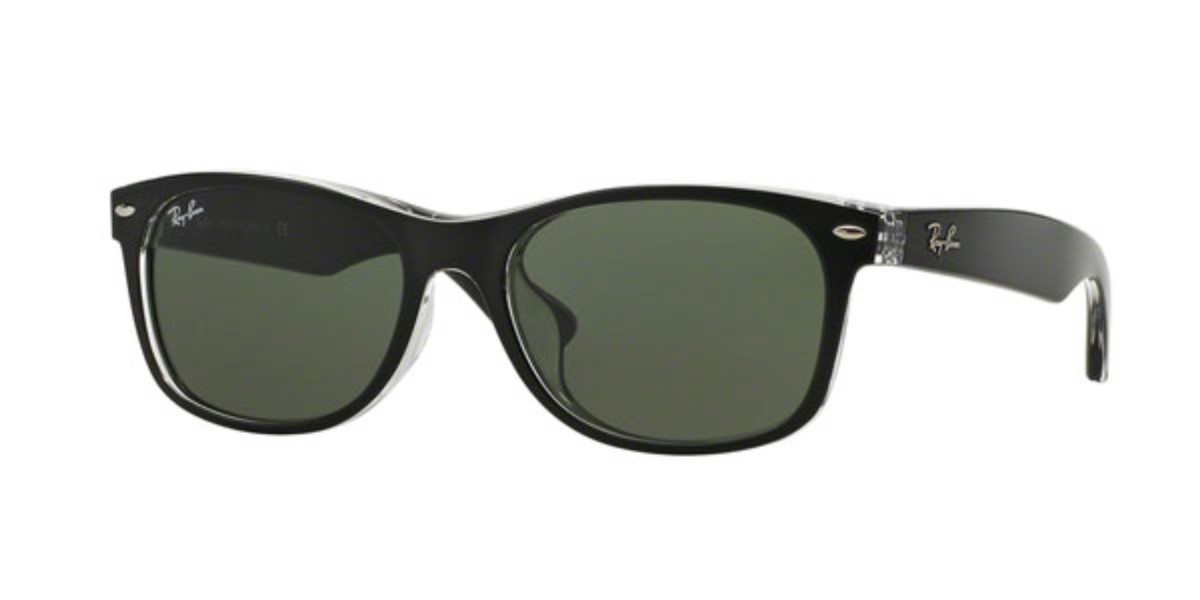 Ray-Ban RB2132F New Wayfarer Asian Fit 6052 Mens Sunglasses Black Size 55