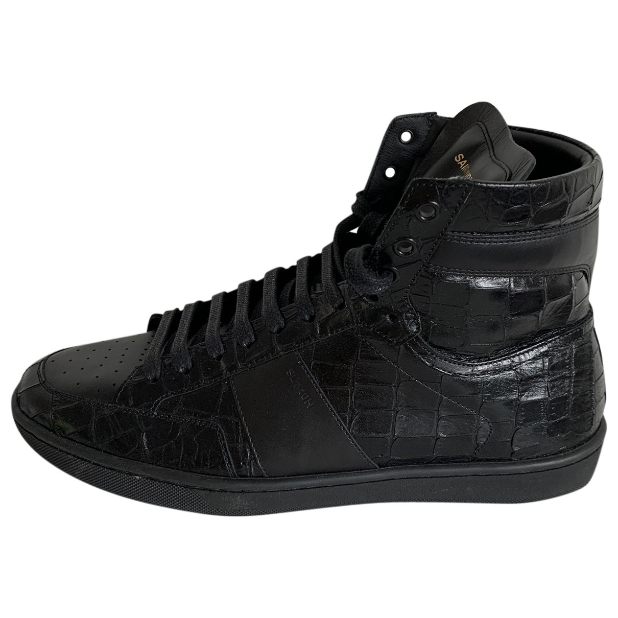 Saint Laurent - Baskets   pour homme en cuir - noir