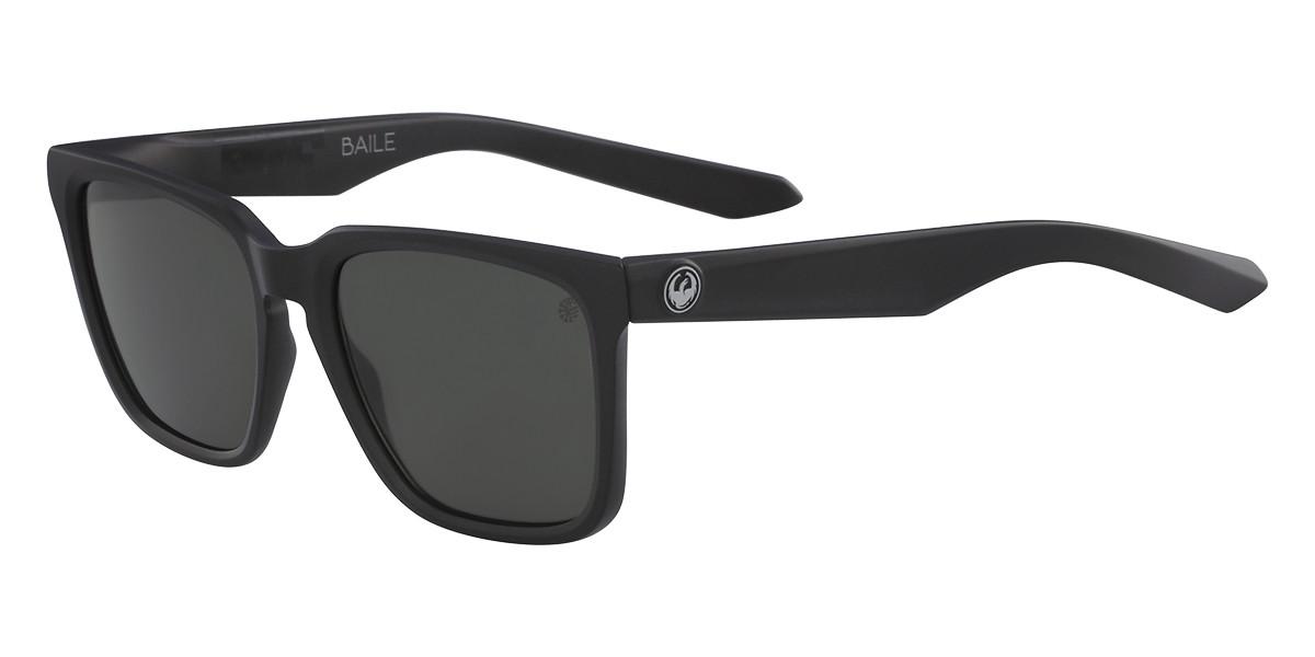 Dragon Alliance DR BAILE LL Polarized 004 Men's Sunglasses Black Size 54