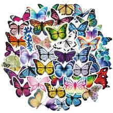 50 Stuecke Aufkleber mit Schmetterling Muster