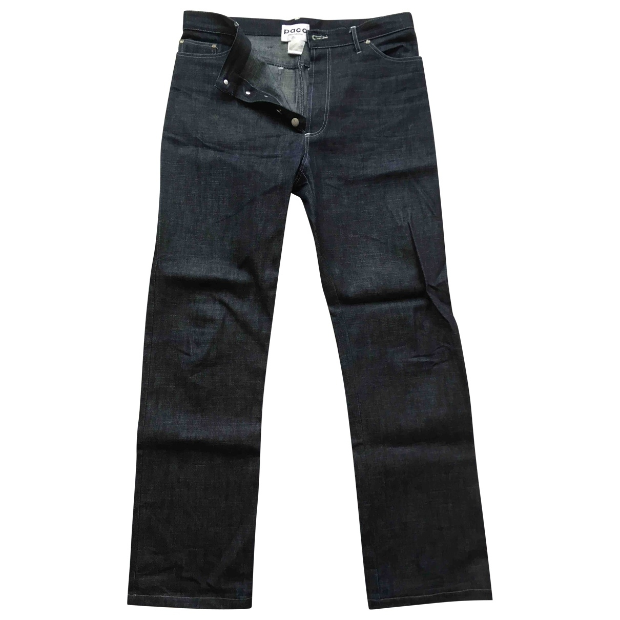 Paco Rabanne \N Blue Cotton Jeans for Men 42 FR