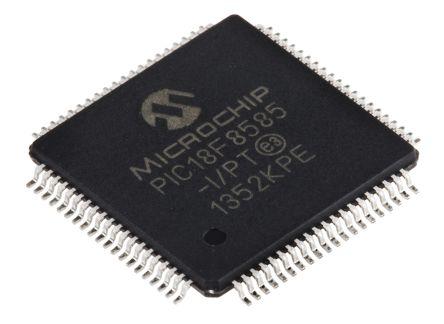 Microchip PIC18F8585-I/PT, 8bit PIC Microcontroller, PIC18F, 40MHz, 1.024 kB, 48 kB Flash, 80-Pin TQFP