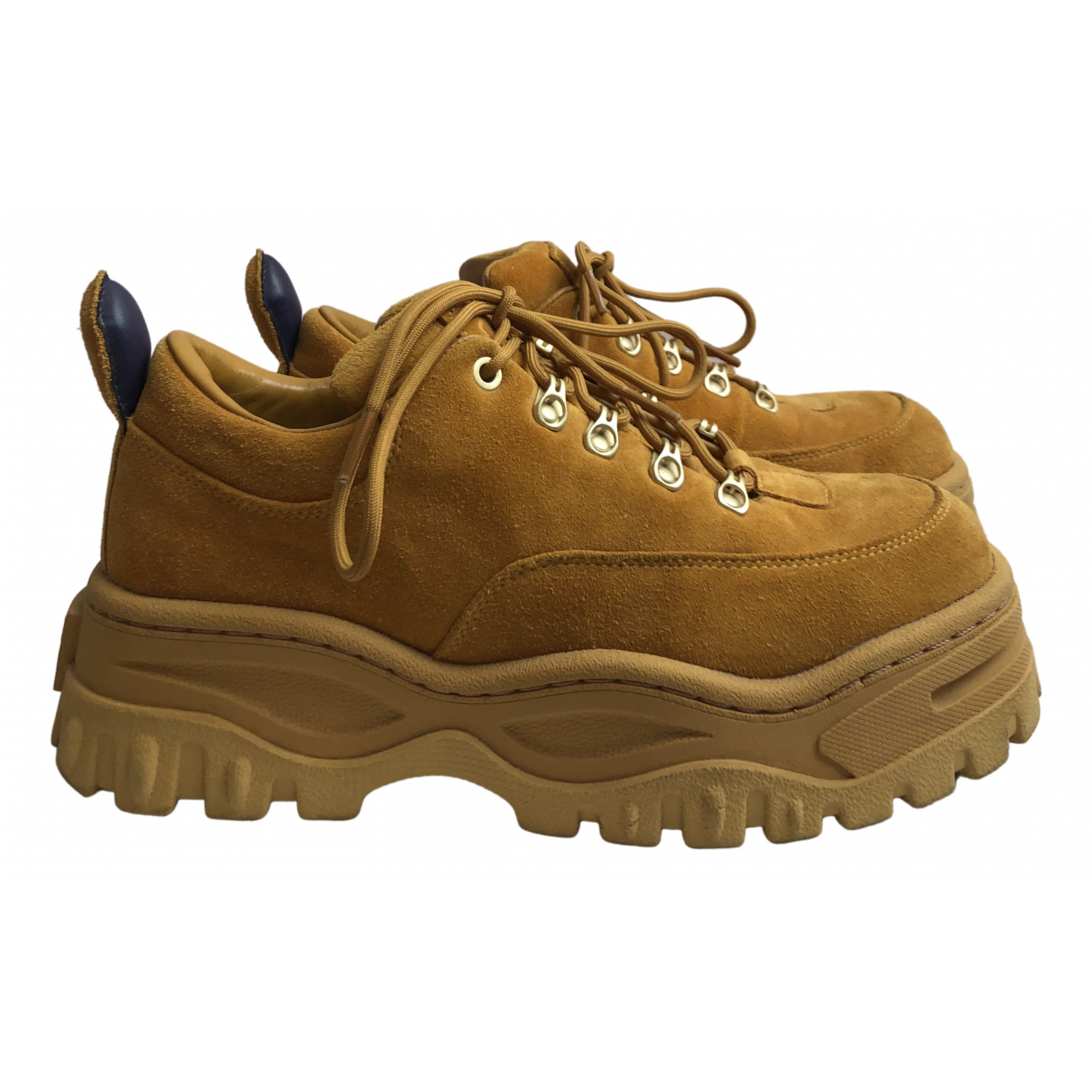 Eytys N Gold Suede Trainers for Women 41 EU