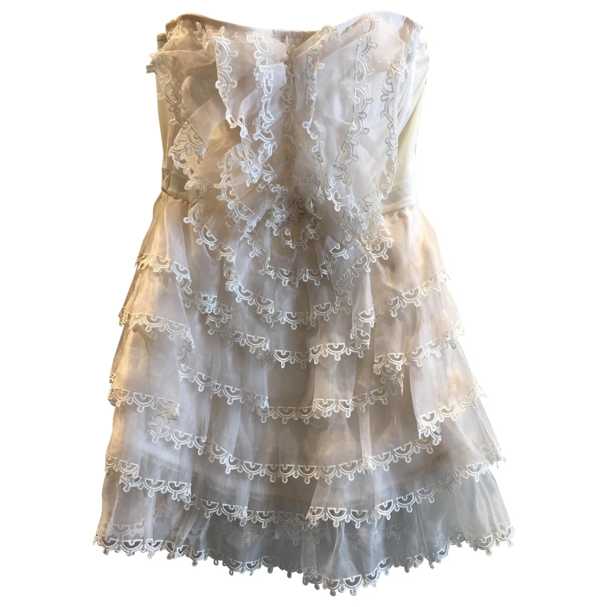 Temperley London \N Ecru Silk dress for Women 6 US