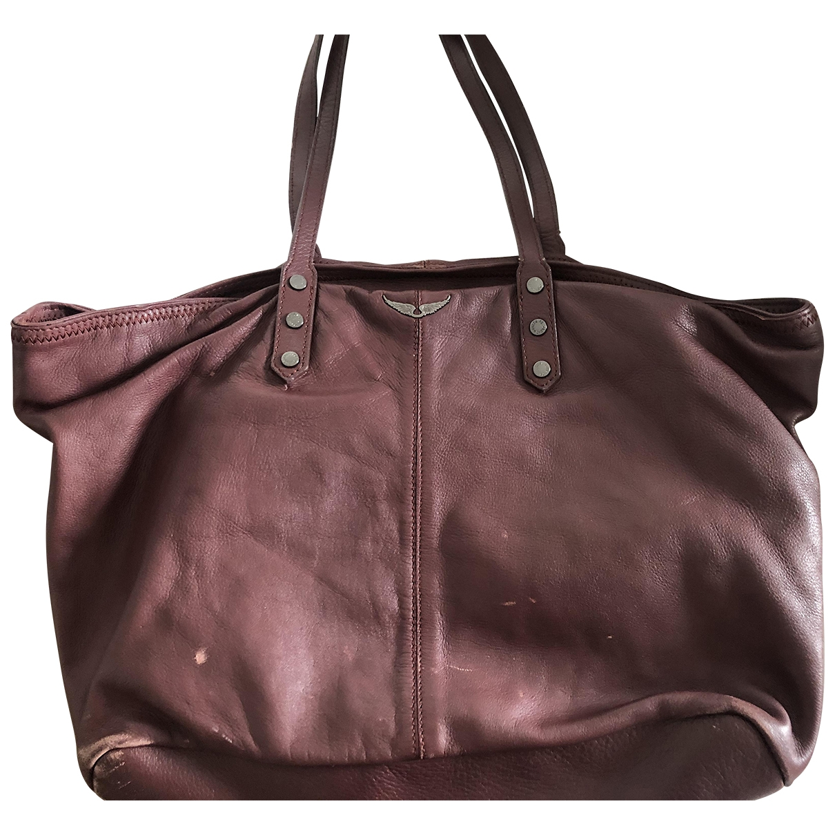 Zadig & Voltaire Daily Burgundy Leather handbag for Women \N
