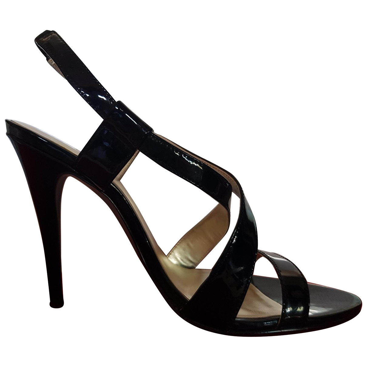Guess \N Black Patent leather Sandals for Women 36 IT