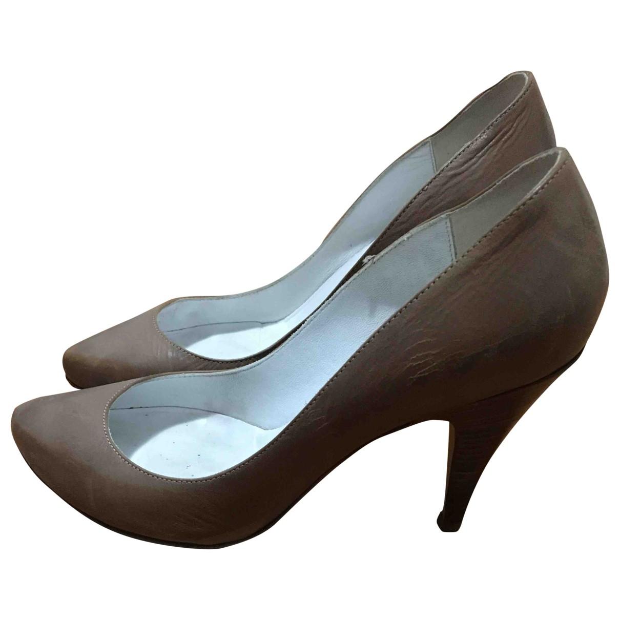 Patrizia Pepe \N Camel Leather Heels for Women 38 EU