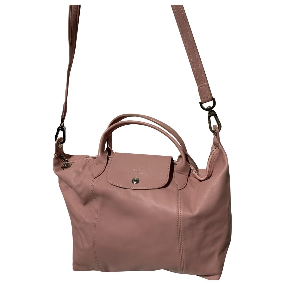 Longchamp \N Handtasche in  Rosa Leder