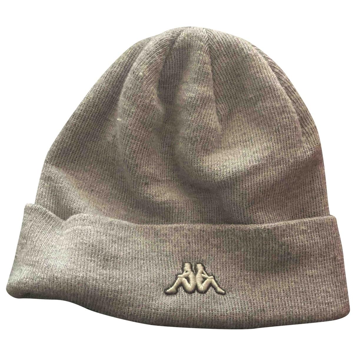 Kappa - Chapeau & Bonnets   pour homme en laine - gris