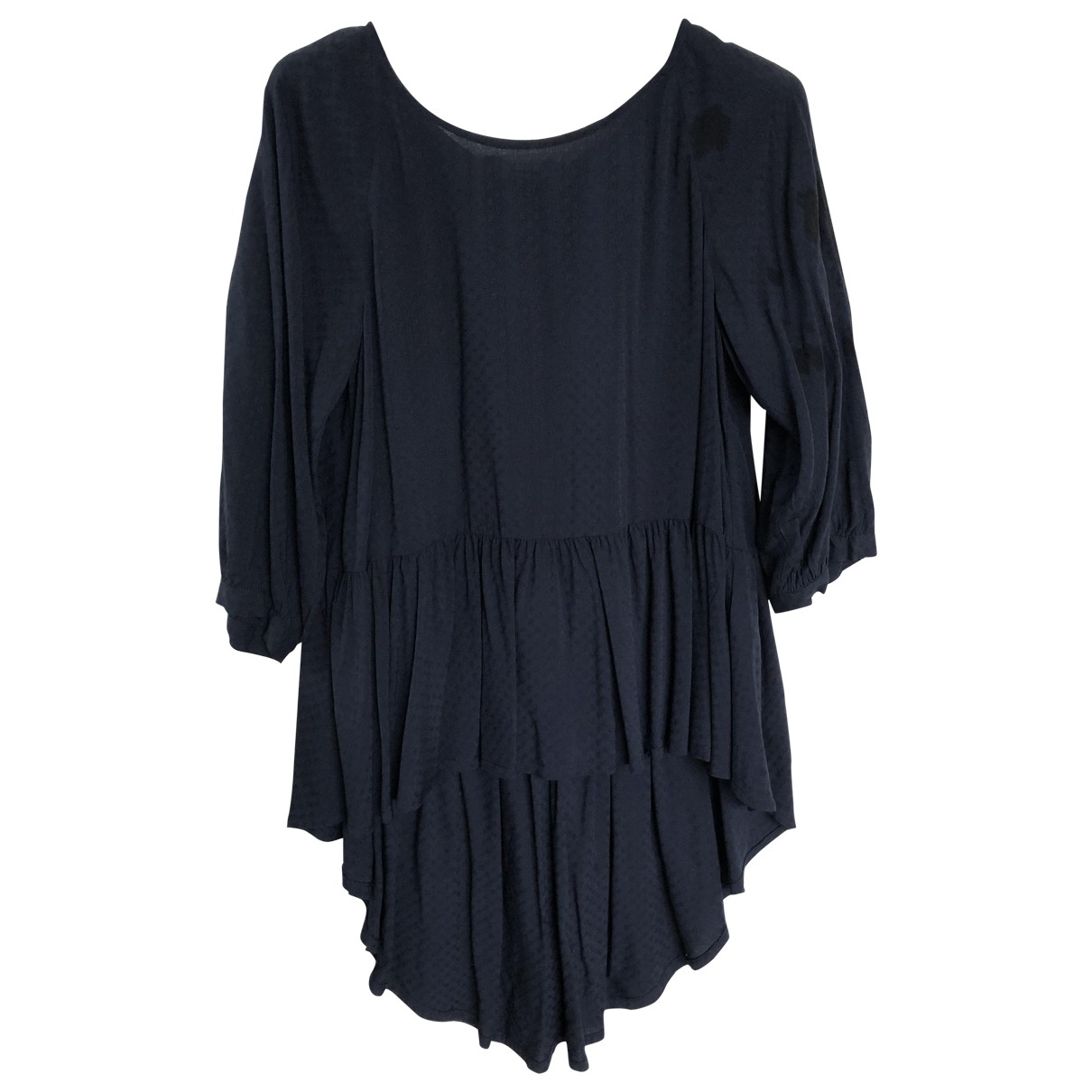 French Connection - Top   pour femme en coton - bleu