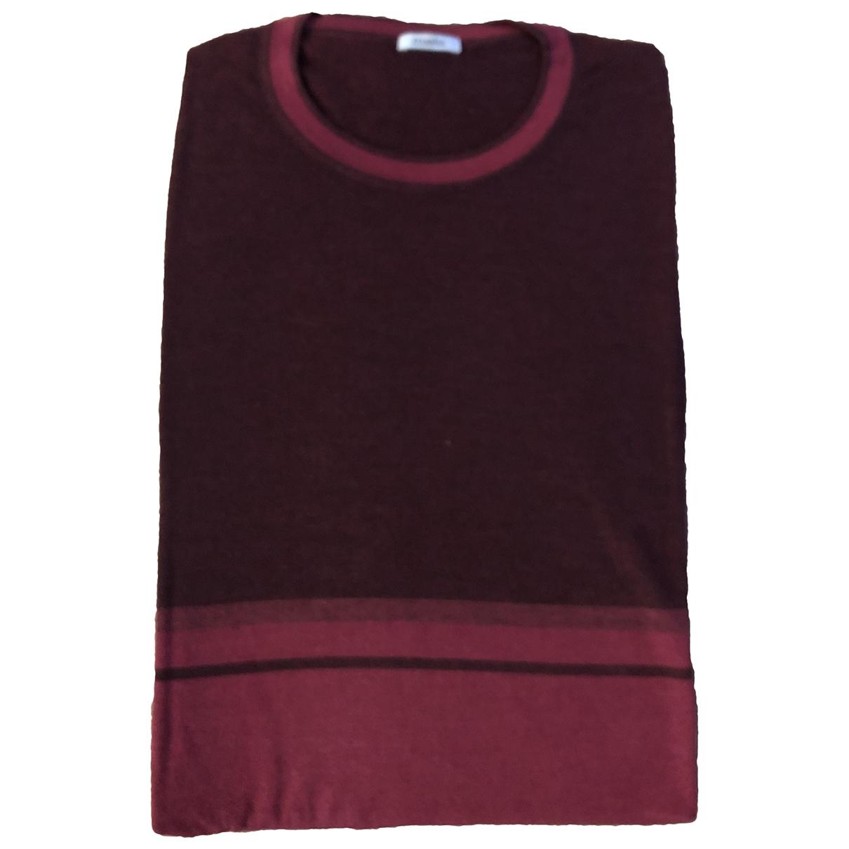 Malo \N Pullover.Westen.Sweatshirts  in  Bordeauxrot Kaschmir