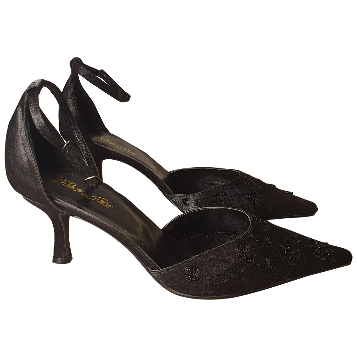 Non Signe / Unsigned \N Pumps in  Schwarz Polyester