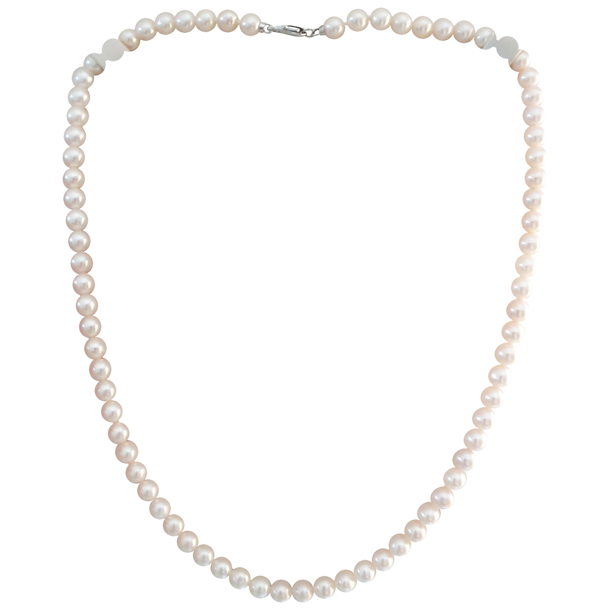 Non Signe / Unsigned \N Kette in  Weiss Perle
