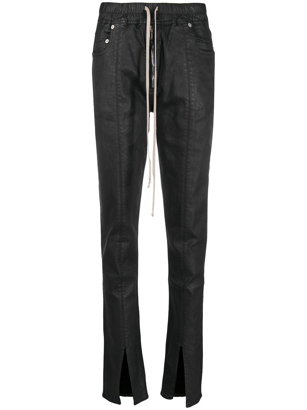Slit Cut Denim Jeans