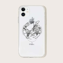 1 Stueck iPhone Huelle mit Strichmalerei Muster