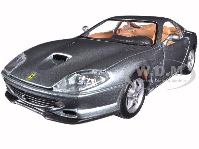 Ferrari 550 Maranello Grey 1/24 Diecast Model Car by Bburago