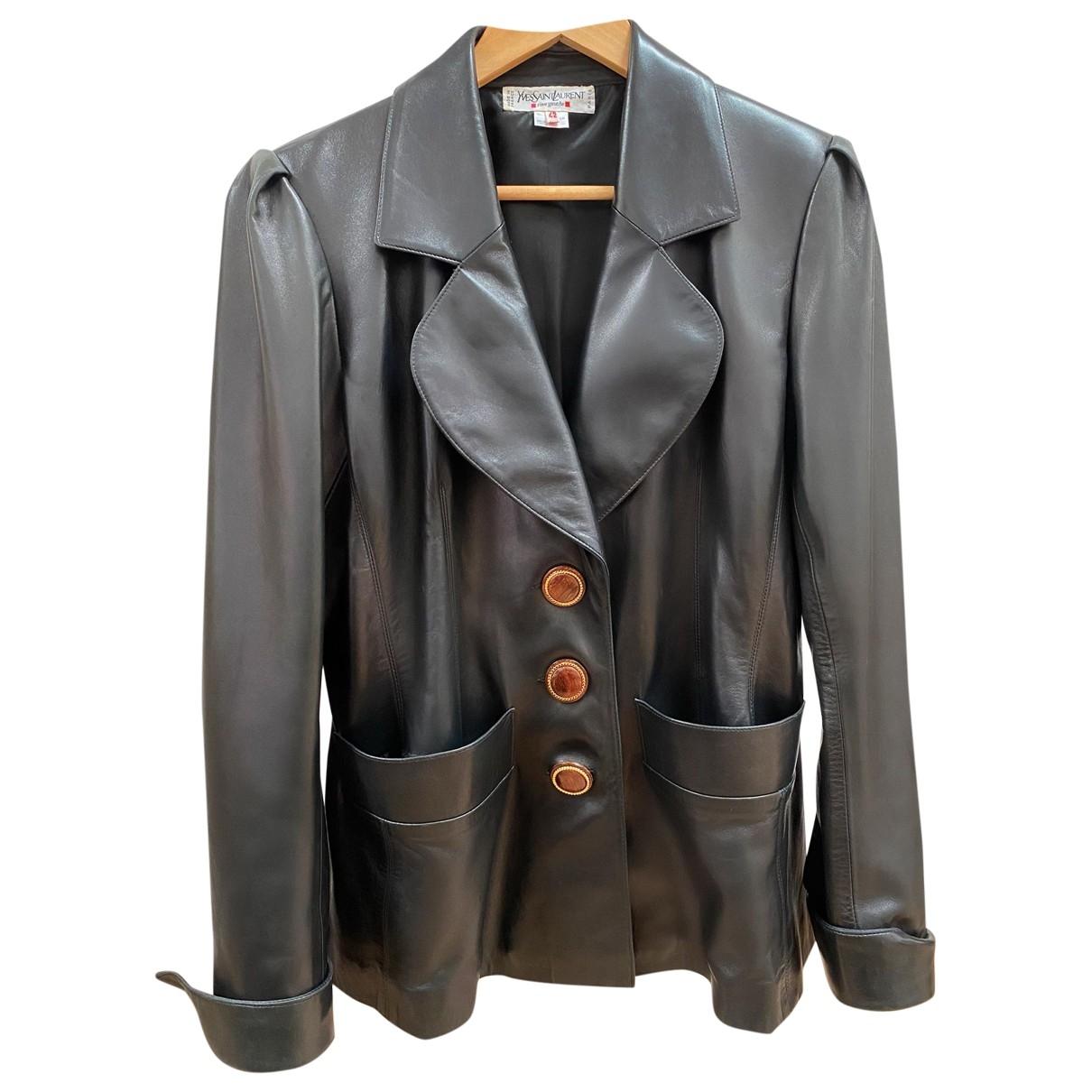 Yves Saint Laurent \N Black Leather jacket for Women 42 FR