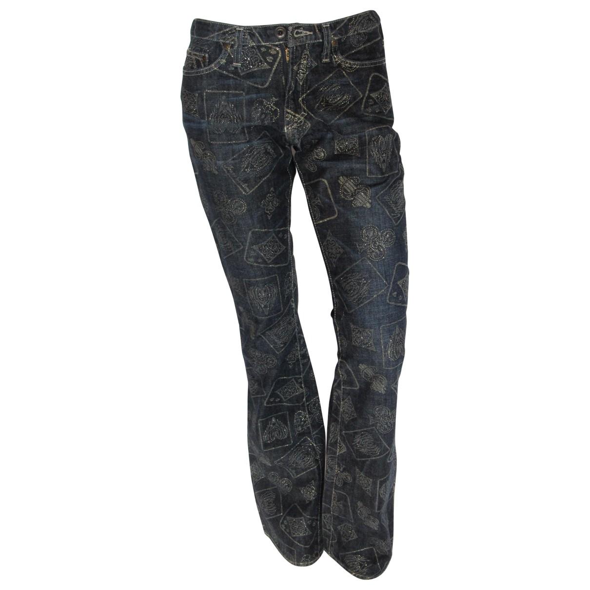 Versace Jeans \N Blue Cotton Jeans for Women 36 FR