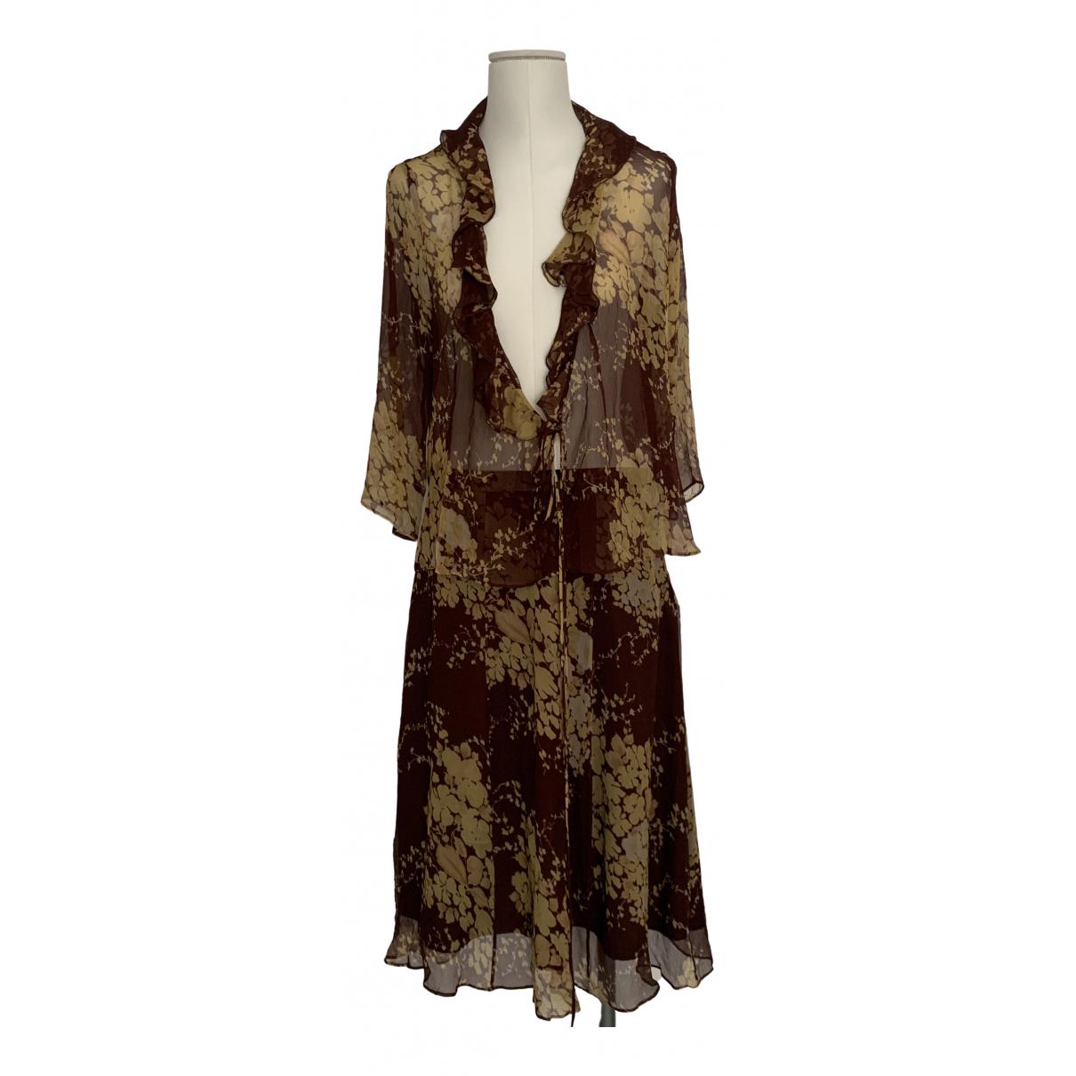 Max Mara - Robe   pour femme en soie - marron