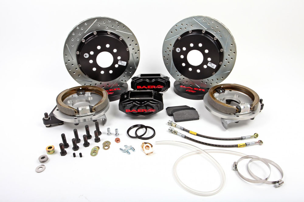 Baer Brakes Brake System 13 Inch Rear SS4+ w/Park Brake Black 65-70 Chevy Full Size Car