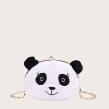 Girls Panda Design Clip Top Chain Bag