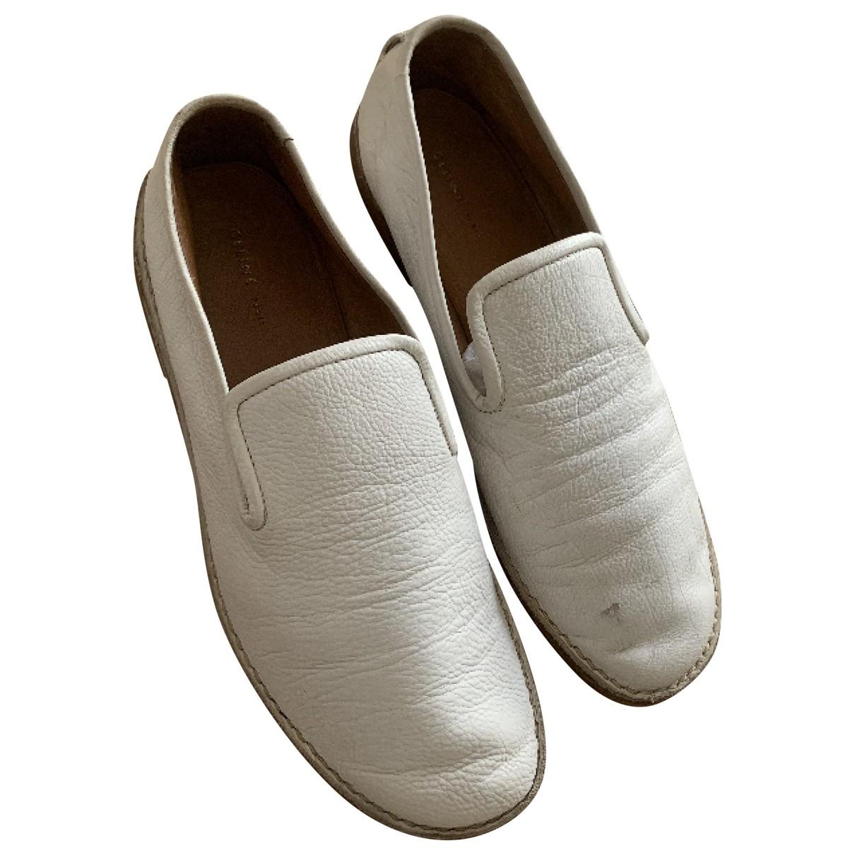 Celine \N White Leather Sandals for Women 36.5 EU