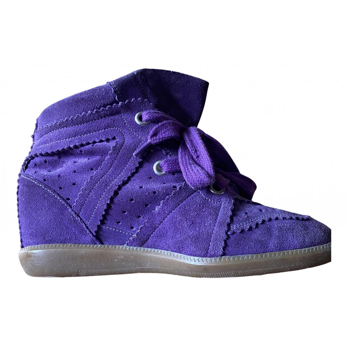Isabel Marant - Baskets Betty pour femme en suede - violet