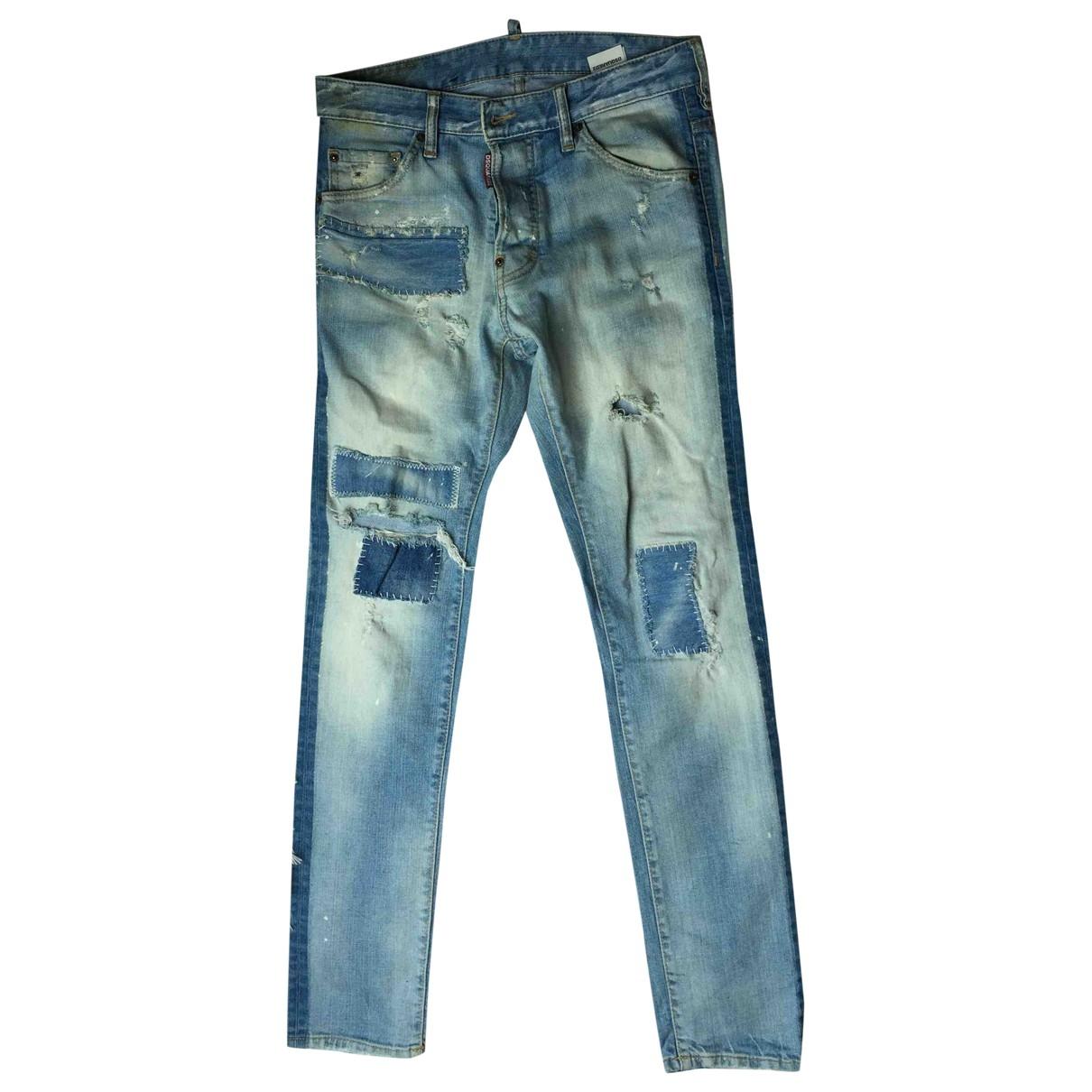 Dsquared2 \N Blue Cotton Jeans for Men 38 - 40 FR