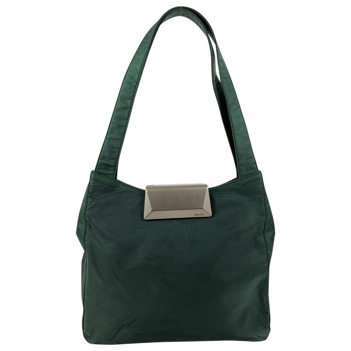 Prada \N Handtasche in  Gruen Leinen