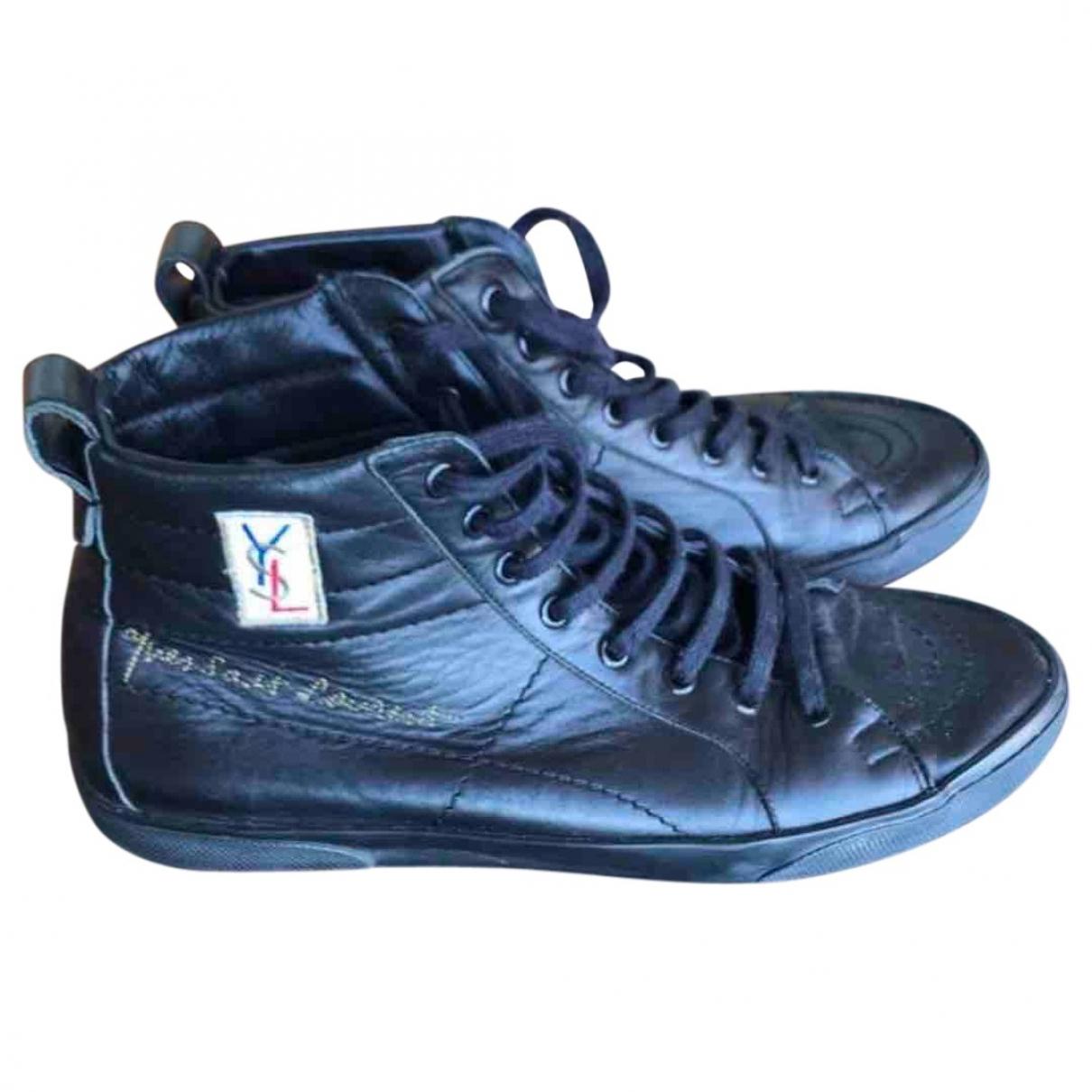 Yves Saint Laurent - Baskets   pour homme en cuir - noir