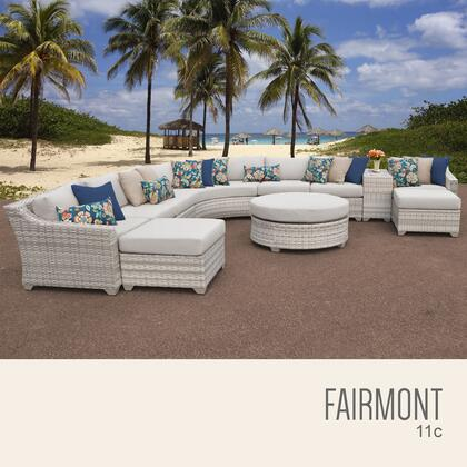 FAIRMONT-11c Fairmont 11 Piece Outdoor Wicker Patio Furniture Set 11c with 1 Cover in