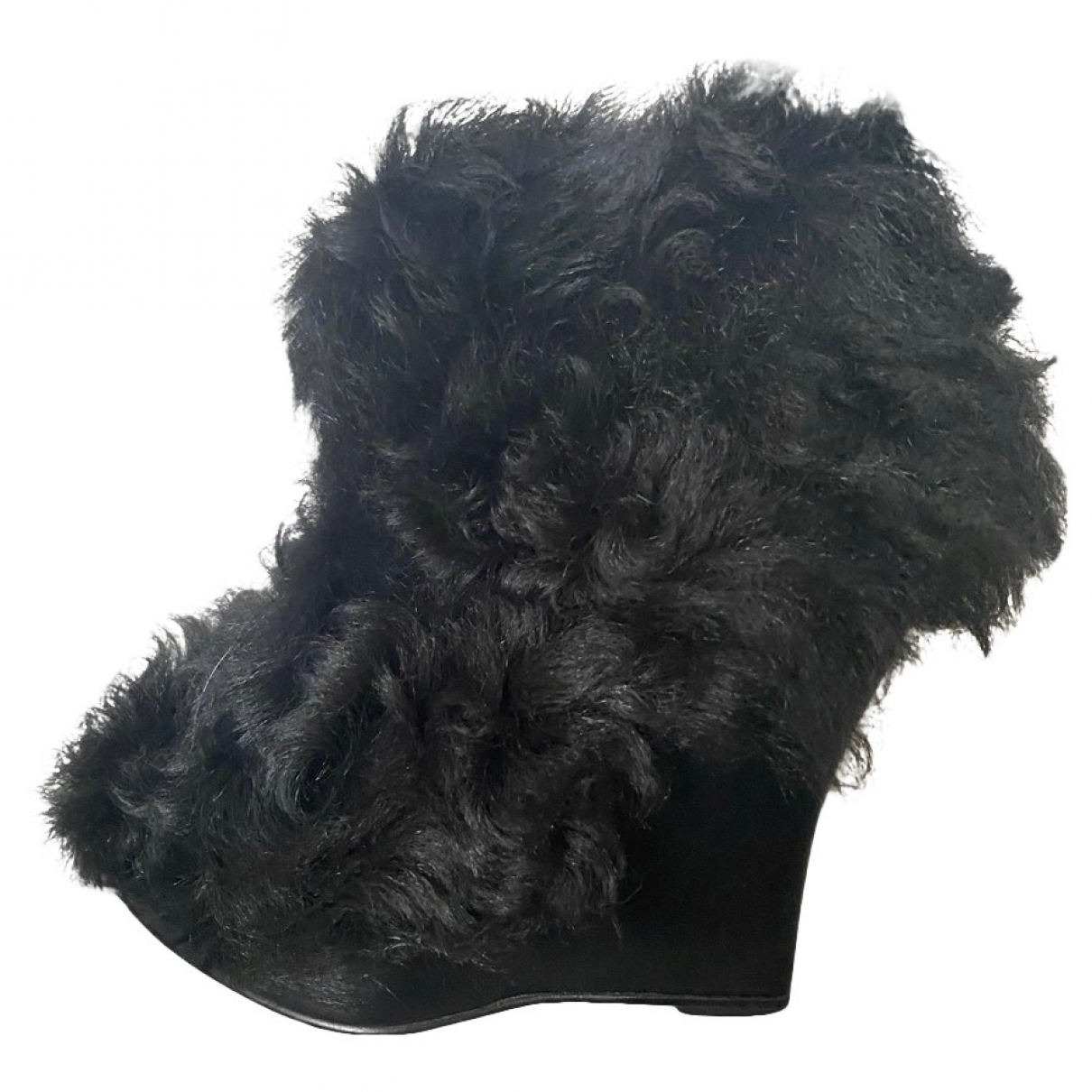 Opening Ceremony \N Black Shearling Ankle boots for Women 38 EU