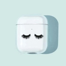 Eyelash Graphic Clear AirPods Case