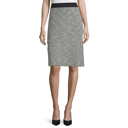 Liz Claiborne Womens A-Line Skirt, 6 , Gray