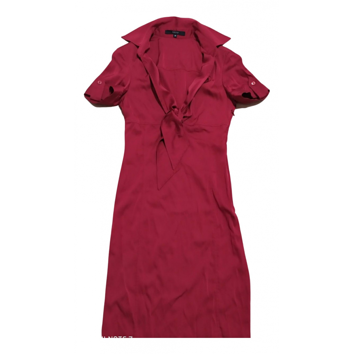 Gucci \N Kleid in  Rot Seide
