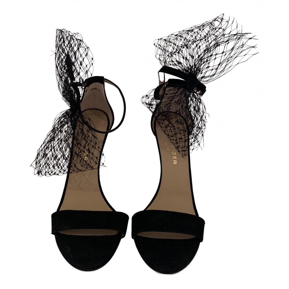 Kurt Geiger - Sandales   pour femme en cuir - noir