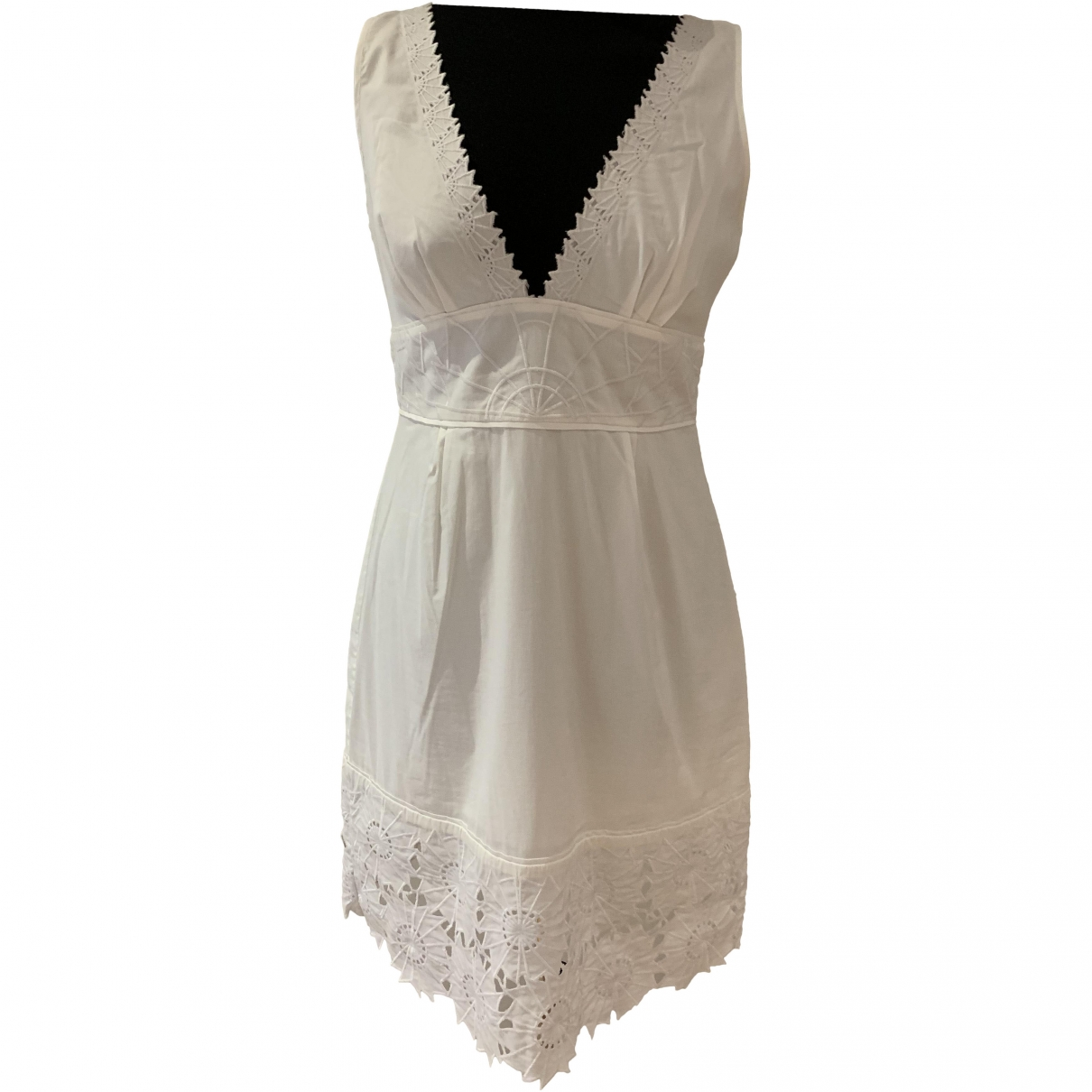 Catherine Malandrino \N White Cotton dress for Women 8 US