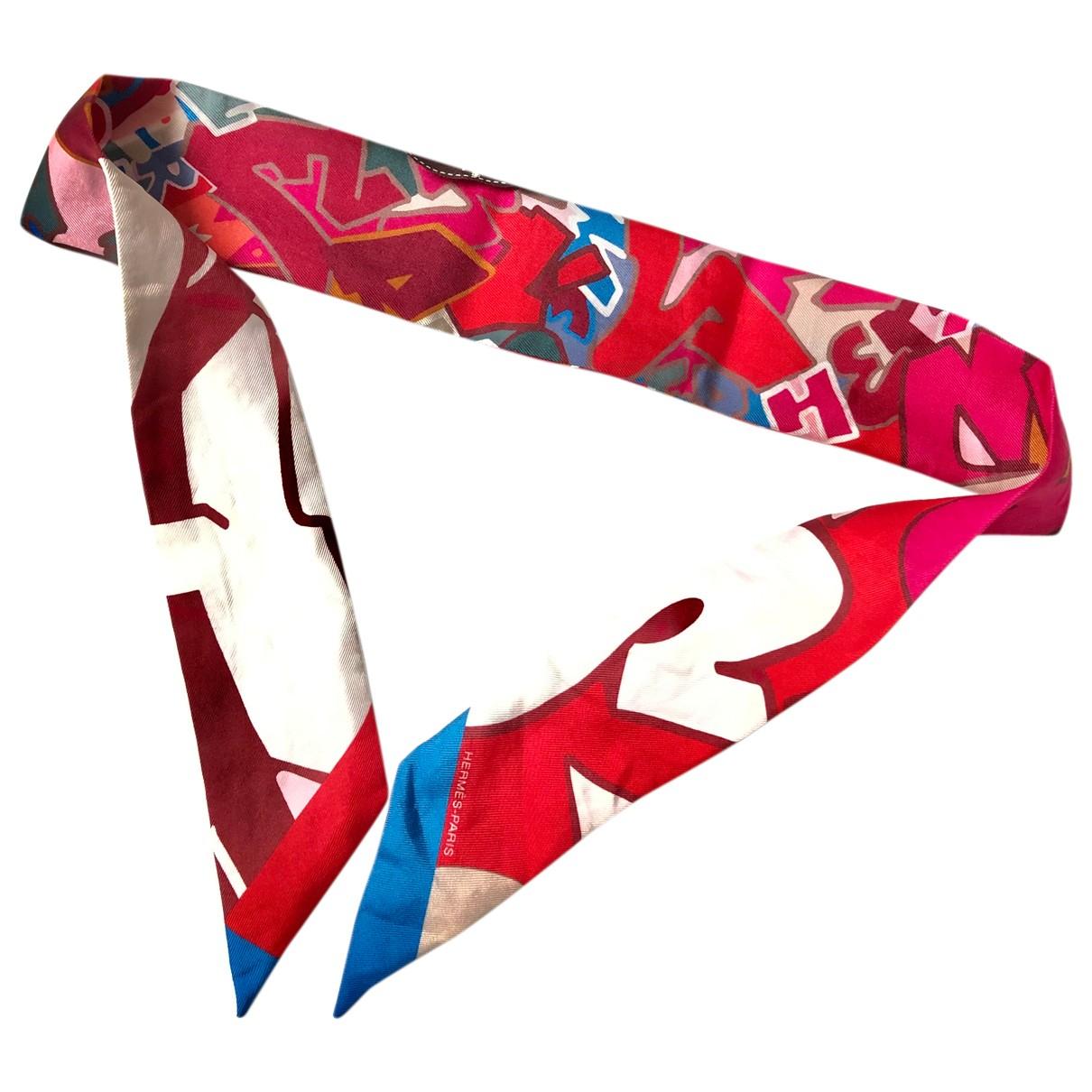 Hermes - Foulard Twilly 86 pour femme en soie - rouge