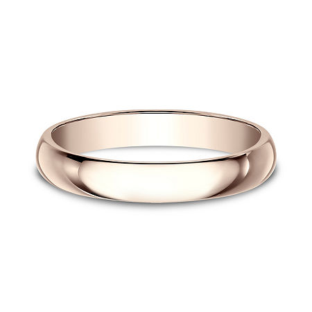 Womens 3mm 14K Rose Gold Wedding Band, 11 1/2 , No Color Family