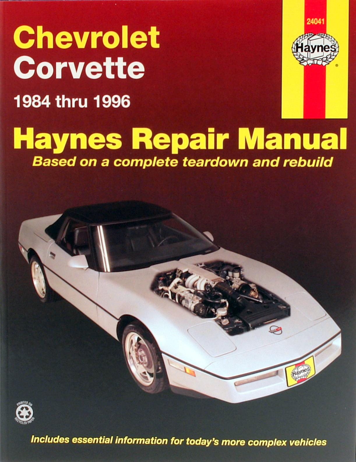 Chevrolet Corvette (84-96) Haynes Repair Manual
