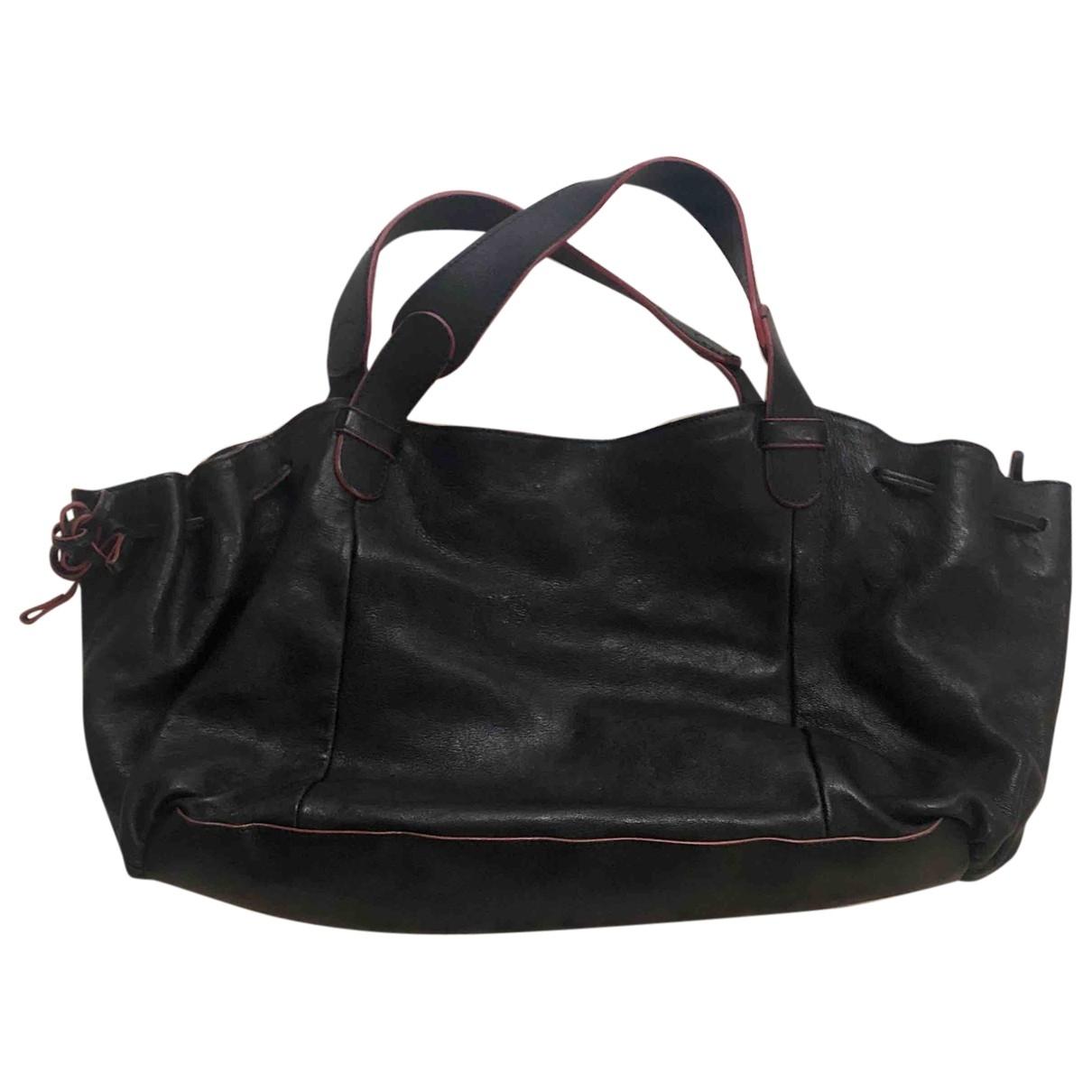 Gerard Darel 24h Handtasche in  Schwarz Leder