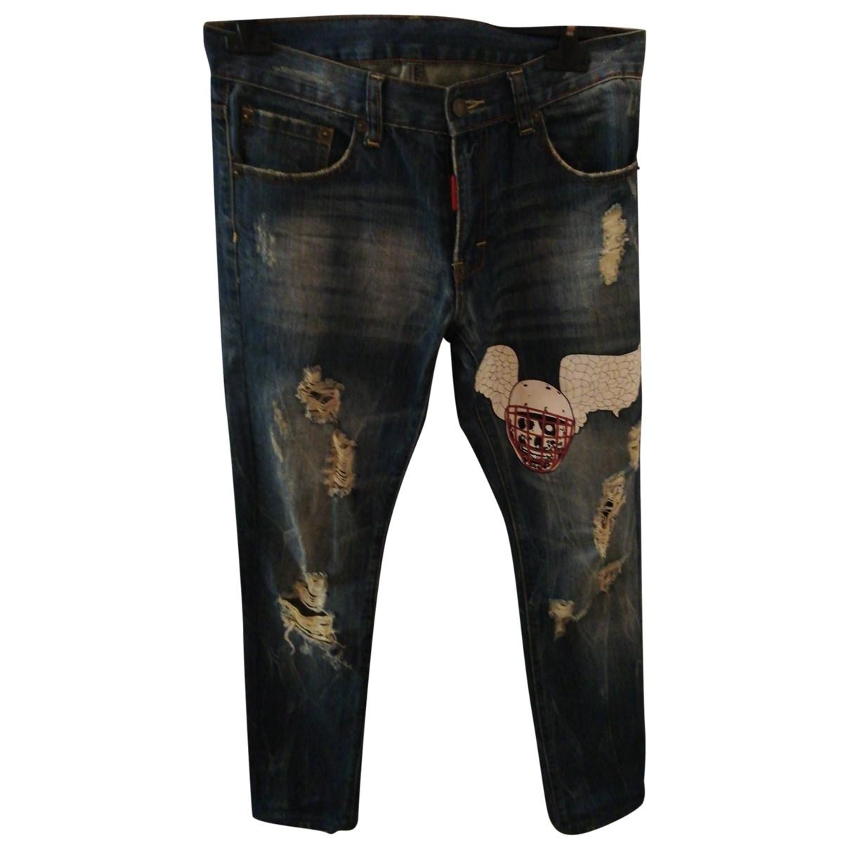 Dsquared2 \N Blue Cotton Jeans for Men 30 US