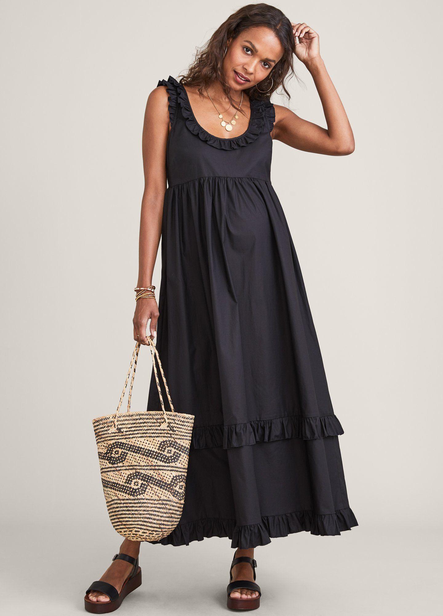 HATCH Maternity The Rafaela Dress, black, Size 1