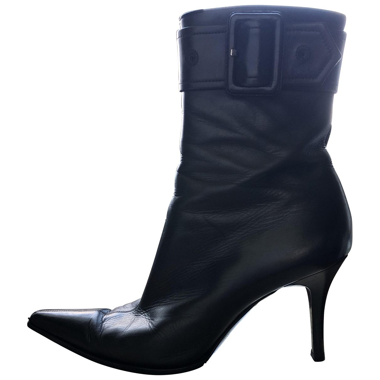 Sergio Rossi \N Black Leather Ankle boots for Women 39 EU