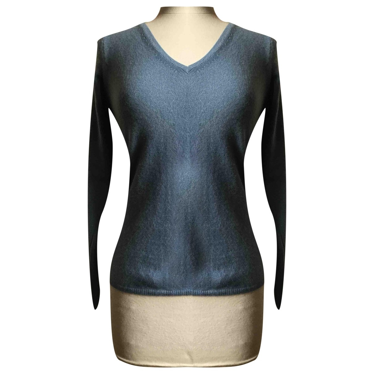 Non Signé / Unsigned \N Blue Cashmere Knitwear for Women 40 IT