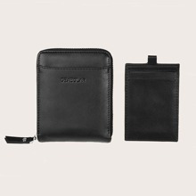 Men 2 In 1 Zip Around Purse