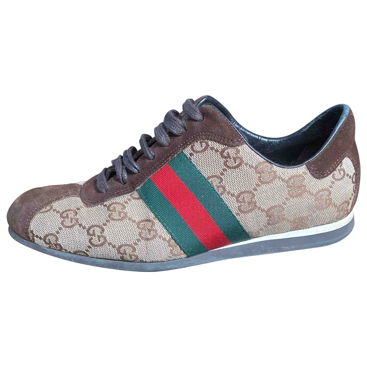 Gucci Ace Brown Cloth Trainers for Women 36 EU
