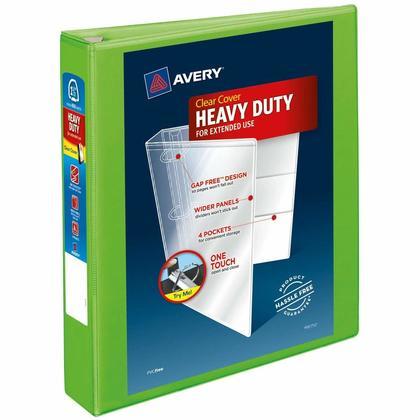 Avery® One Touch™ relieur robuste avec anneaux en D verrouillables One Touch - Vert, 1-1/2