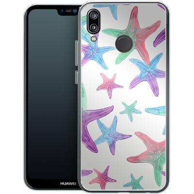 Huawei P20 Lite Silikon Handyhuelle - Starfish Print von Becky Starsmore