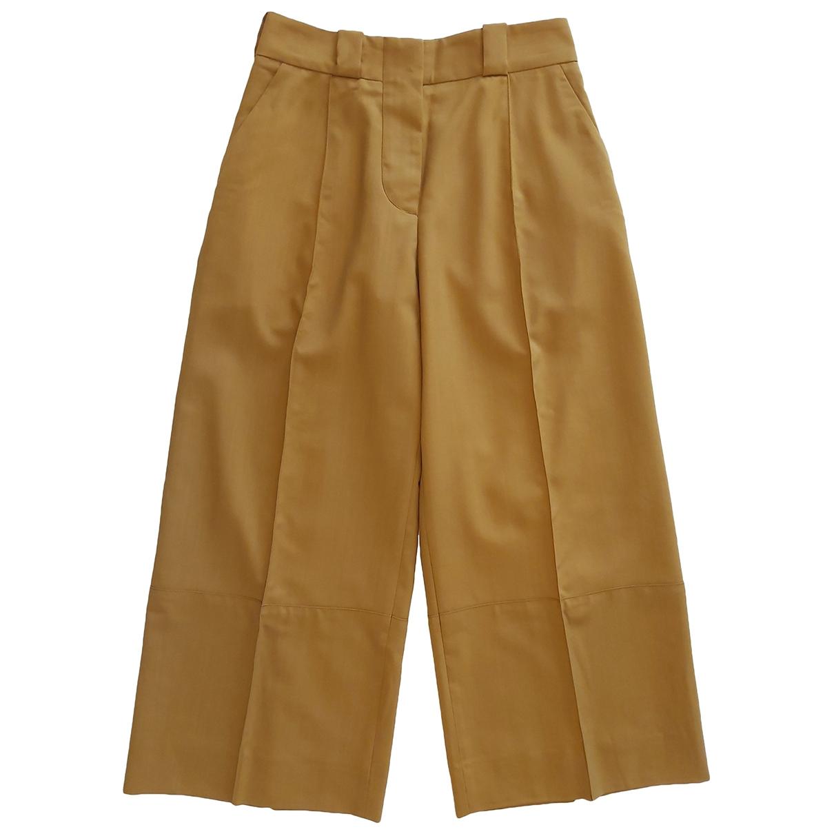 Marni \N Camel Wool Trousers for Women 36 IT